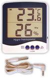 Термометр цифровой электронный ТЕ-109 с большим экраном для измерения температуры внутри или снаружи + влажности в помещении