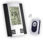 Термометр цифровой электронный ТЕ-2024 с радиодатчиком для одновременного измерения температуры в доме и на улице, влажности в доме и на улице, с указателем погоды и часами-будильником