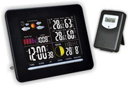 Термометр цифровой электронный ТЕ-318 беспроводная <b>барометрическая</b>  погодная станция с подсветкой дисплея для одновременного измерения давления, температуры и влажности в помещении и за окном