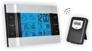 Термометр цифровой электронный ТЕ-346 беспроводная метеостанция для одновременного измерения температуры и влажности в помещении и за окном с подсветкой
