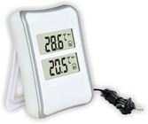Термометр цифровой электронный ТЕ-520 для одновременного измерения температуры в помещении и на улице