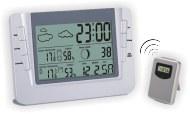 Термометр цифровой электронный ТЕ-608 беспроводная метеостанция для одновременного измерения температуры и влажности в помещении и за окном с подсветкой