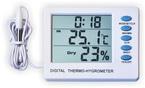Термометр цифровой электронный ТЕ-107 температура дом-улица + гигрометр + часы-будильник
