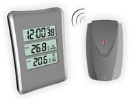 Термометр цифровой электронный ТЕ-1126 «Simple» беспроводной термометр + часы для одновременного измерения температуры в помещении и за окном