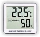 Термометр цифровой электронный ТЕ-803-М2 с большим экраном для одновременного измерения температуры и влажности в помещении