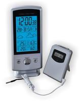 Термометр цифровой электронный ТЕ-1300 «SIGMA» с радиодатчиком для одновременного измерения температуры в доме и на улице, а также влажности в доме и на улице, и указателем погоды и подсветкой
